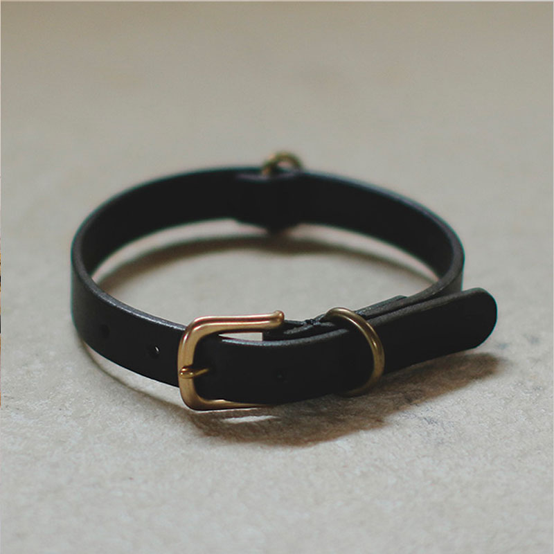 SMOOTH LEATHER COLLAR - we original -