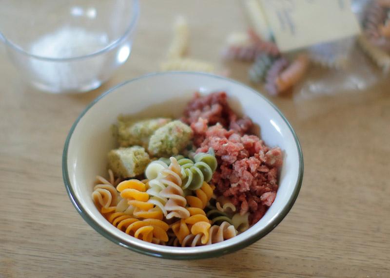 Today's Recipe/馬肉と彩りパスタのベジタブルボウル