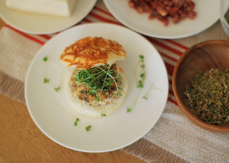 Today's Recipe/ヘルシー豆腐ハンバーガー