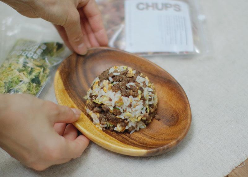 Today's Recipe/スタミナ満点!馬肉のホルモンミンチチャーハン