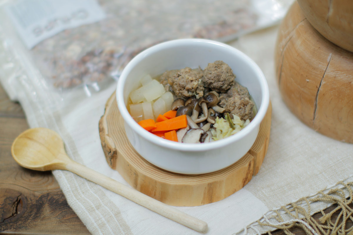 Today's Recipe/きのことホルモンミンチのだんご鍋