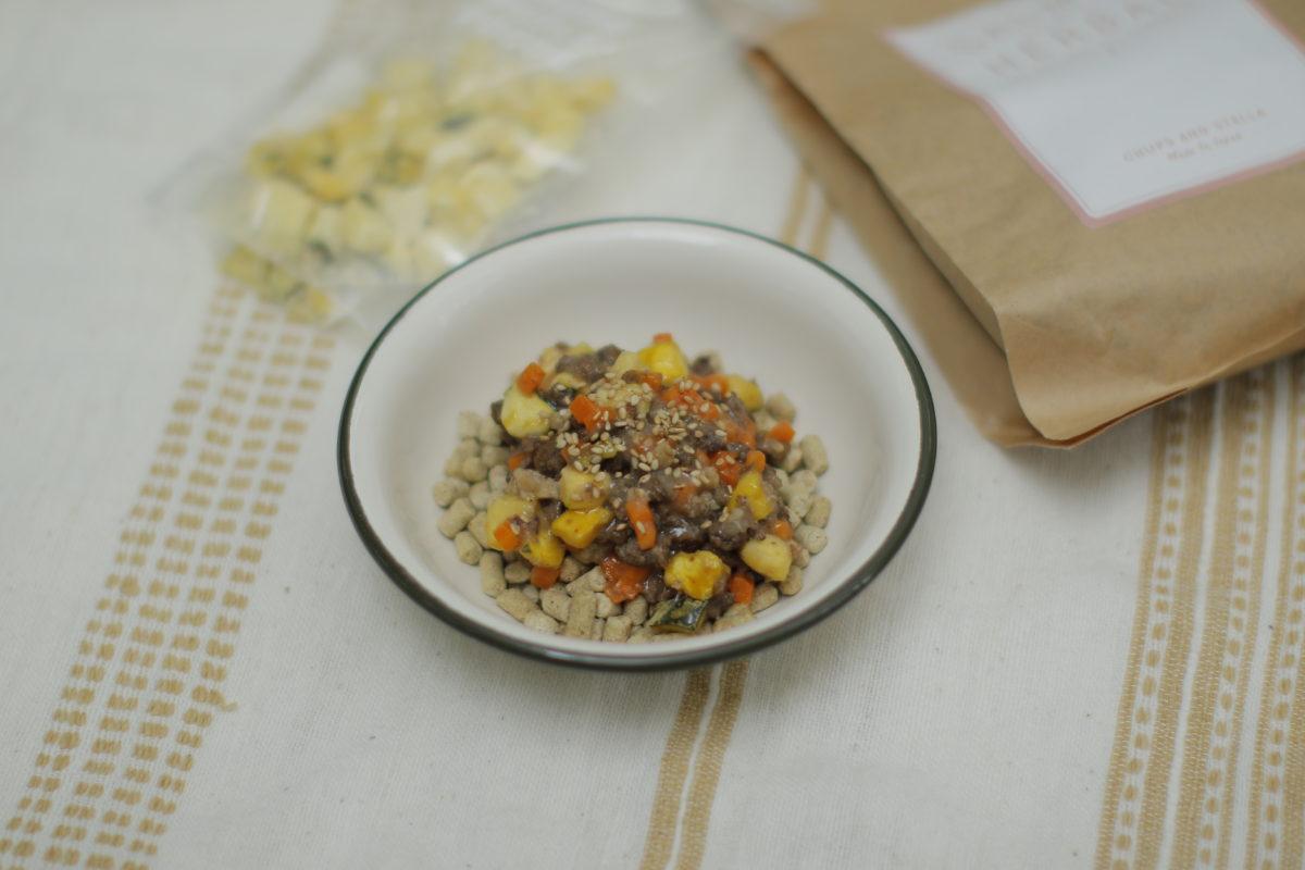 Today's Recipe/馬肉ミンチとかぼちゃビッツのあんかけごはん