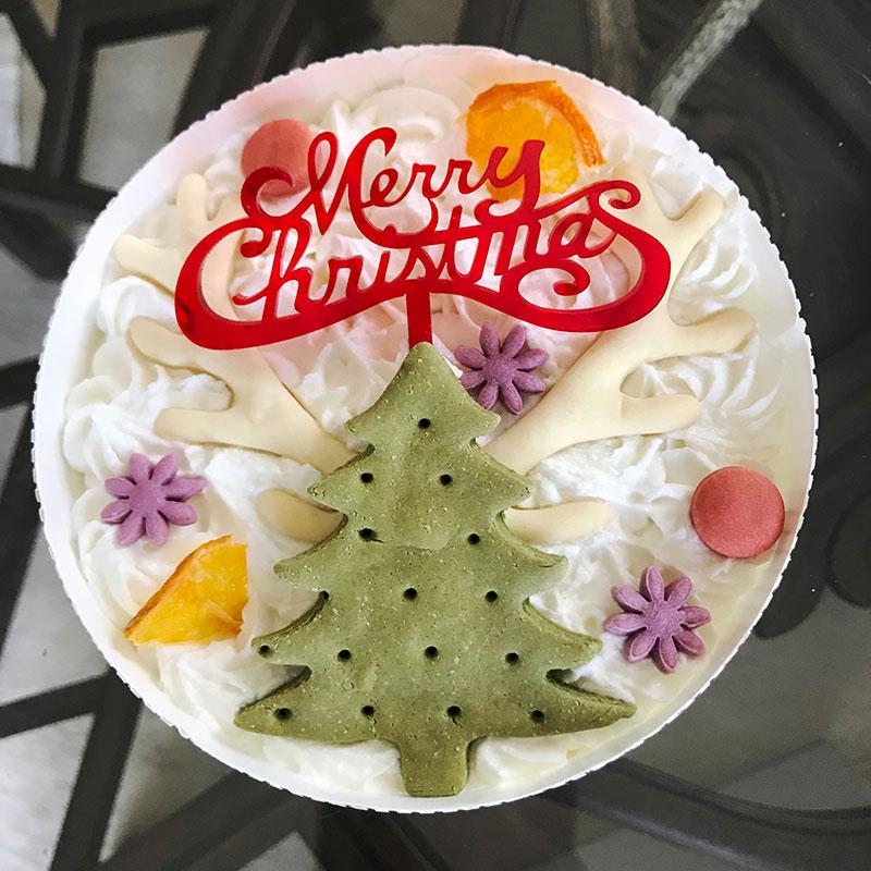 クリスマスケーキ トナカイツリーのケーキ